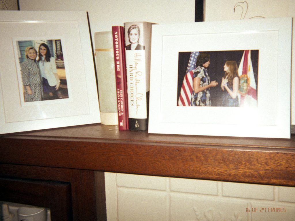 Lisa Conn, co-founder and COO of Icebreaker Video. Her second ritual image with books & some of her heroes