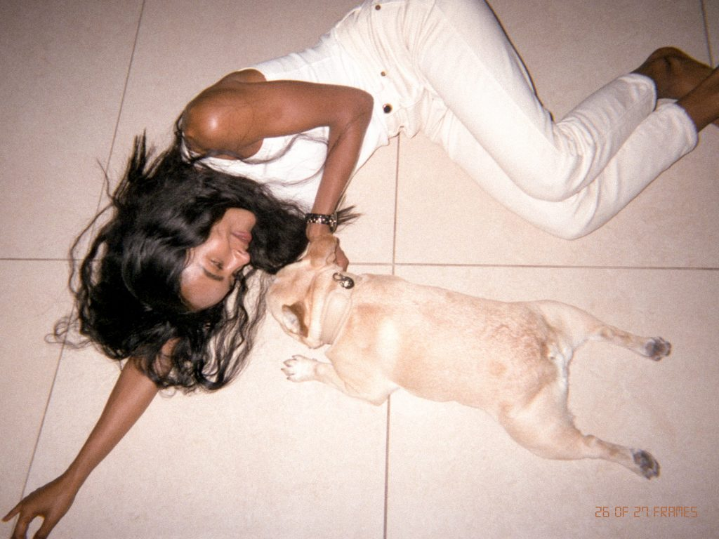 Mandy Madden Kelley with her dog.